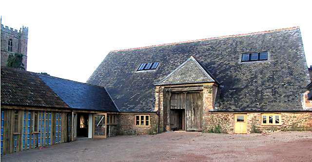 The Tithe Barn re-roofed and nearing completion