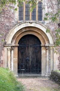 Dunster church - west door